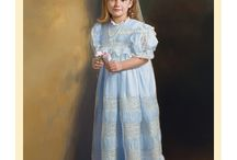 Easter Outfits / Our favorite Easter outfits hand painted by Leon Loard Oil Portraits