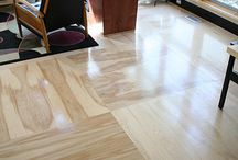 Plancher plywood