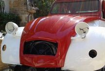 My 2 cv /  2cv AZA 1963 total reconstruction Valelunga red and white