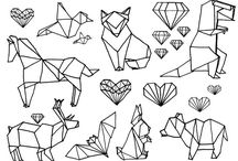 종이접기무늬