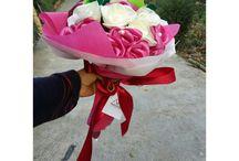 satin ribon flowers