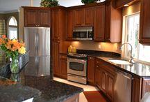 Dark Wood Cabinet Kitchen Remodel / Dark Wood Cabinet Kitchen Remodel Project We Did In Southwest Florida.