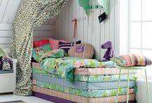 Bedroom w slanted roof