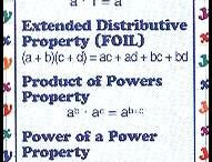 algebra properties and more