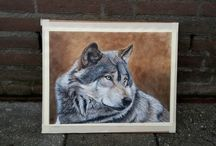 Wolves / painting wolves