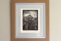 Lino Print Portfolio / Portfolio of my hand carved lino print artwork.