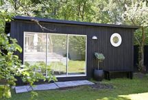 Small cabins / In Sweden there are two type of small cabins, Friggebod and Attefallshus. Both are named after politicians. This board collects interesting ideas/solution for these types of small cabins.