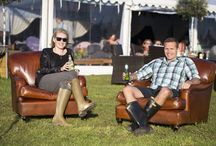 LCB @ Camp Kerala / Our leather Lansdown Sofas & Chairs, plus a variety of our Georgian Wing Chairs, at Camp Kerala, Glastonbury 2016