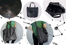 Black is Timeless. / You can take anything you want with you, but you can also take nothing with you. Your space is still only yours.  Classic and minimalistic black bags and purses with all year round.