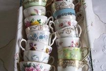 Antique and vintage teacups