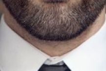 beard and suit