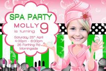 Spa Birthday party invitation
