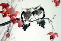 Sketching Ideas - Chinese Brush (Sumi-e) / Ideas for future Chinese Brush (Sumi-e) Paintings