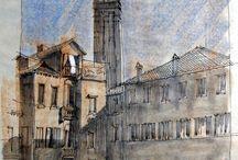 Venedig Skizzen und Zeichnungen