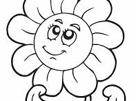 FLOWER TEMPLATES - PRINTABLES & CUTE PICS CARTOONS