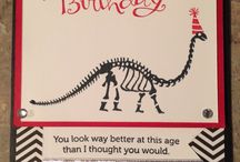 Stampin Up No Bones about it / Stampin up stamp set No bones about it inspiration dinosaur cards