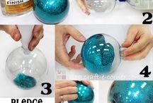 Bolas de vidro e frascos