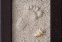 cuadros .. arena y yeso