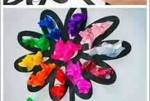 Čierny kvet - farebné lupinky