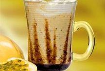 Cafés e sucos