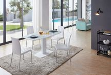 Modern Contemporary Lacquer Wood Glass White Dining Tables