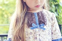 BLUE BOWS / #fashion, #photography #kids #children #girl #cute #littlediaryofstyle #poses