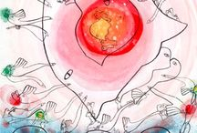 Yoshio Nakajima / Artistic Work of Japanese artist Yoshio Nakajima. #art #Japan #Cobra #Sweden