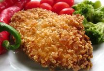 Panko crumbed chicken breasts / Pablo crumbed chicken