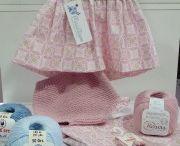 Punto y crochet bebé / Ropita de bebé en punto y ganchillo. Jerseys, peleles, gorros y otros