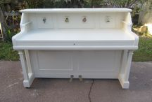 Upcycled piano-desk
