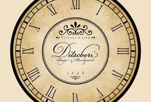 Часы декупаж