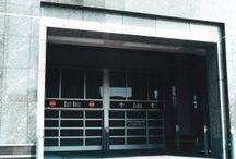 Parking Garage Glass Garage Doors / Strong welded aluminum frame glass garage doors