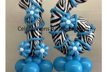 Sweet 16 Balloon Party Decor