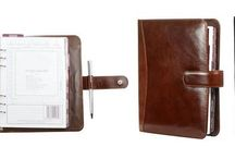 Leather Filofaxes / Filofexes made from genuine sheet leather, not bonded leather.