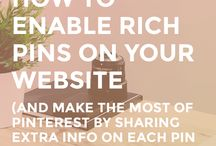 Rich Pins Tips & Advice / If you want to learn more about rich pins then here are heaps of info...