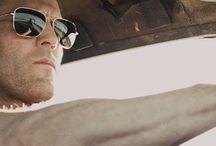 Jason Statham in sunglasses