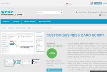Custom Business Card Script / We have readymade script for custom business card reach us @ +91-9790033533