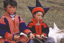 Klederdrachten en Sami +folk art