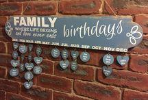 Family wood calendar