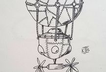 Inktober 2016, 2015 / ink work (c)2015/ (c)2016 Karen Carlisle.  inktober - 31 day challenge of ink drawings. For more info: http://mrjakeparker.com/inktober #inktober (twitter).