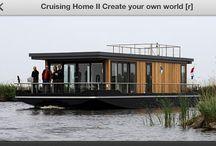 Scheepshuisje / Varende huizen drijfende villa