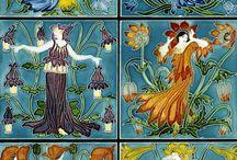 Tiles Art Deco and Art Nouveau