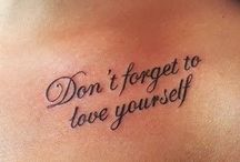 tattoo text, big or small text 2d.3d