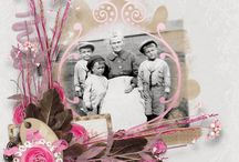 Heritage and Genealogy - Scrapbook / Digital scrapbooking layout pages, kits and collections by some of my favorite scrapbook designers.