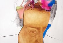 Paintings and work on Paper / Artwork which led to my facemotion portraits