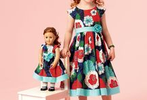 Dresses for children and dolls