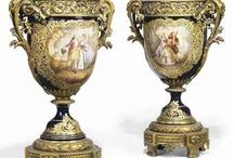 Georgian Era Porcelain / Delicate, gilded, and hand painted porcelains that would grace the home of an upper class Englishman during the Georgian period