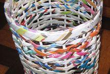 Artesanato com jornal e revista