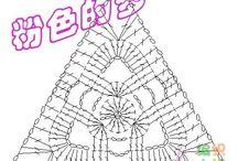 三角モチーフ\✡/編み図
