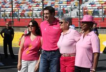 Charlotte Motor Speedway Paints the Track Pink!  / NASCAR drivers joined over 100 breast cancer survivors at Charlotte Motor Speedway October 1 to paint the track pink in honor of breast cancer awareness month.